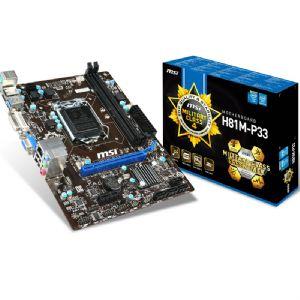MSI H81M-P33 DDR3 M-ATX VGA DVI GLAN SATA3 USB3.0